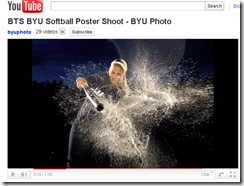 photo softball BYU