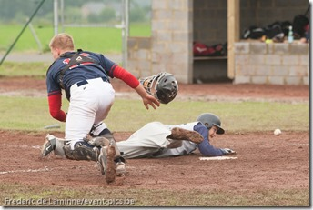 June 13, 2012; Namur, Belgium.  Qualifier European Cup between Gotenborg Baseball(SWE) and the Espoo Expos(FIN)